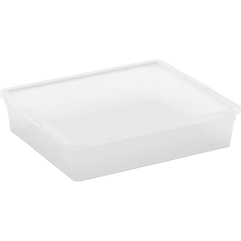 Aufbewahrungsbox C Flat mit Deckel Transparent