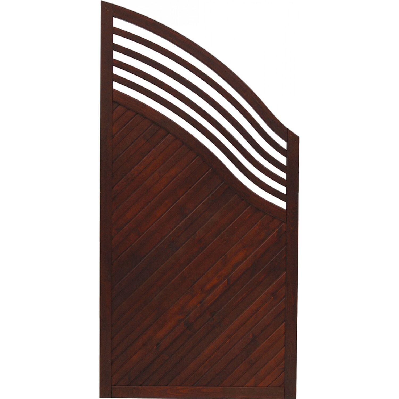 Sichtschutzzaun element malaga braun 180 195 cm x 90 cm for Wohnzimmertisch 90 x 120