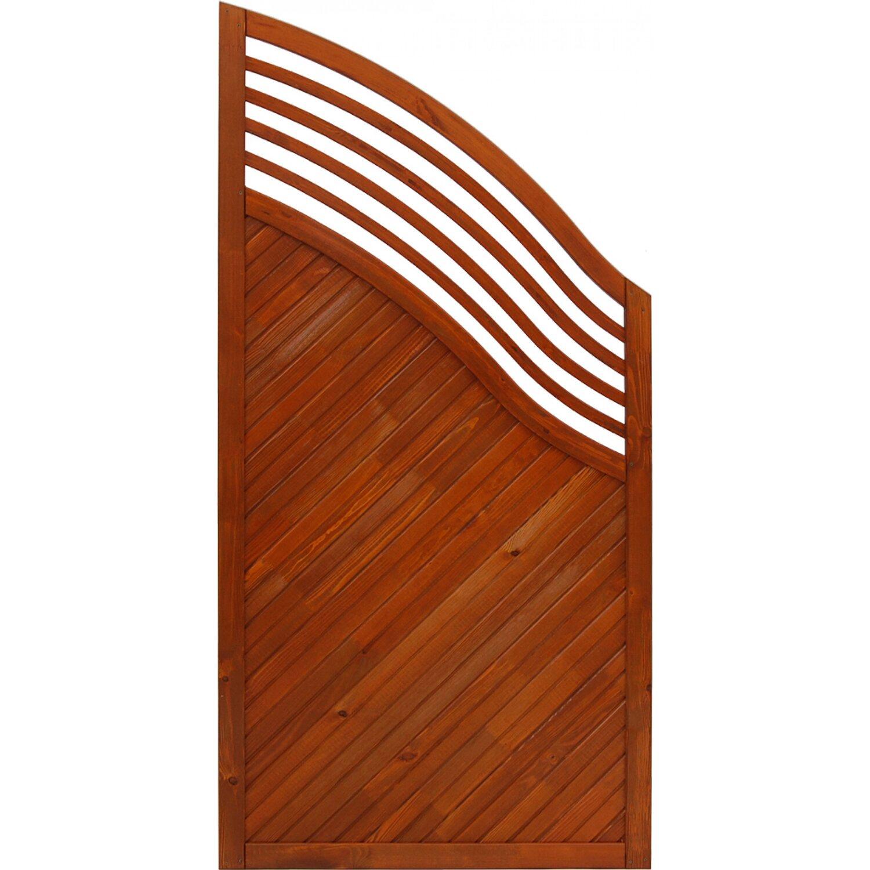 sichtschutzzaun element malaga teakfarben 180 120 cm x 90 cm kaufen bei obi. Black Bedroom Furniture Sets. Home Design Ideas