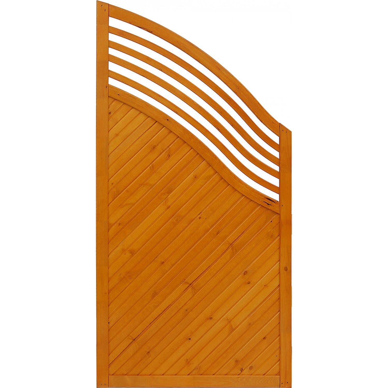 sichtschutzzaun element malaga pinienfarben 180 120 cm x 90 cm kaufen bei obi. Black Bedroom Furniture Sets. Home Design Ideas