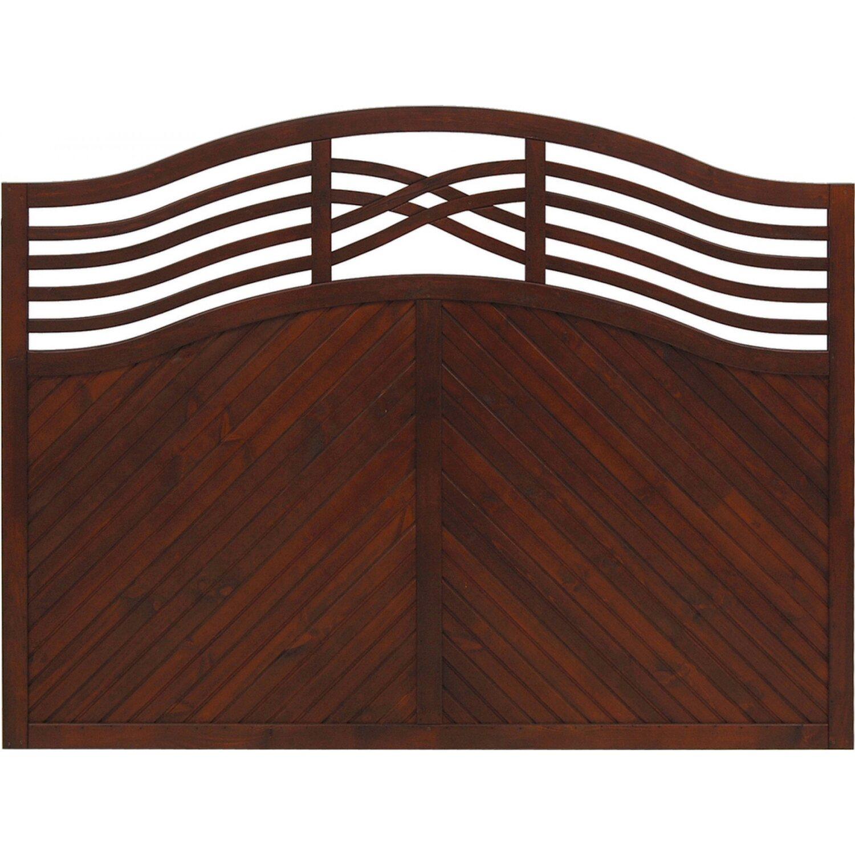 Sichtschutzzaun Element Malaga Braun 120 135 cm x 180 cm kaufen