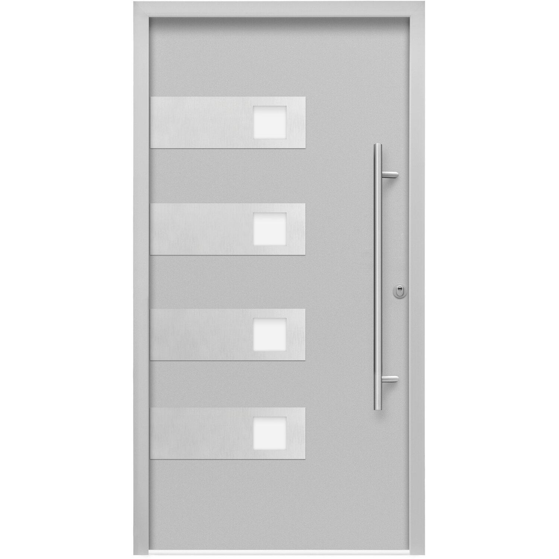 sicherheits haust r thermospace bern rc2 110 x 210 cm grau anschlag rechts kaufen bei obi. Black Bedroom Furniture Sets. Home Design Ideas