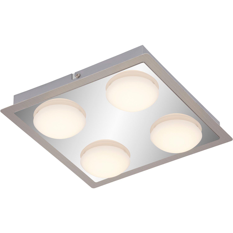 Briloner LED Deckenleuchte 4 flammig Chrom Nickel matt EEK: A+