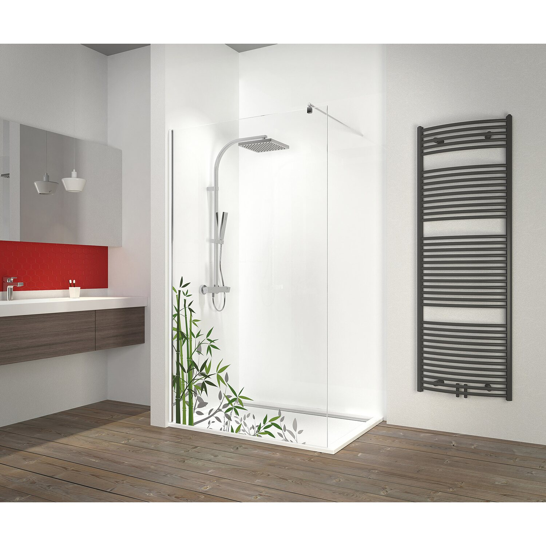 schulte duschwand walk in chrom dekor bambus 200 cm x 120. Black Bedroom Furniture Sets. Home Design Ideas