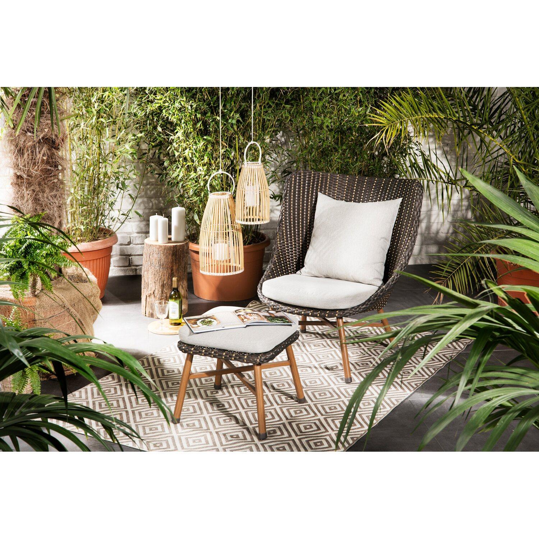 obi lounge sessel bonfield polyrattan inkl hocker kaufen bei obi. Black Bedroom Furniture Sets. Home Design Ideas