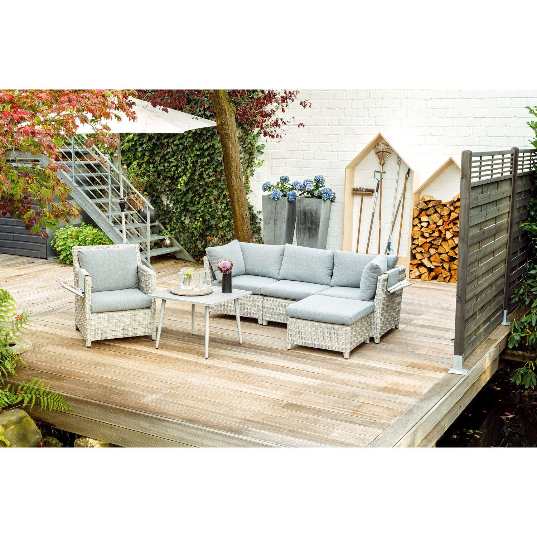 obi lounge gruppe springside polyrattan naturgrau 6 tlg kaufen bei obi. Black Bedroom Furniture Sets. Home Design Ideas