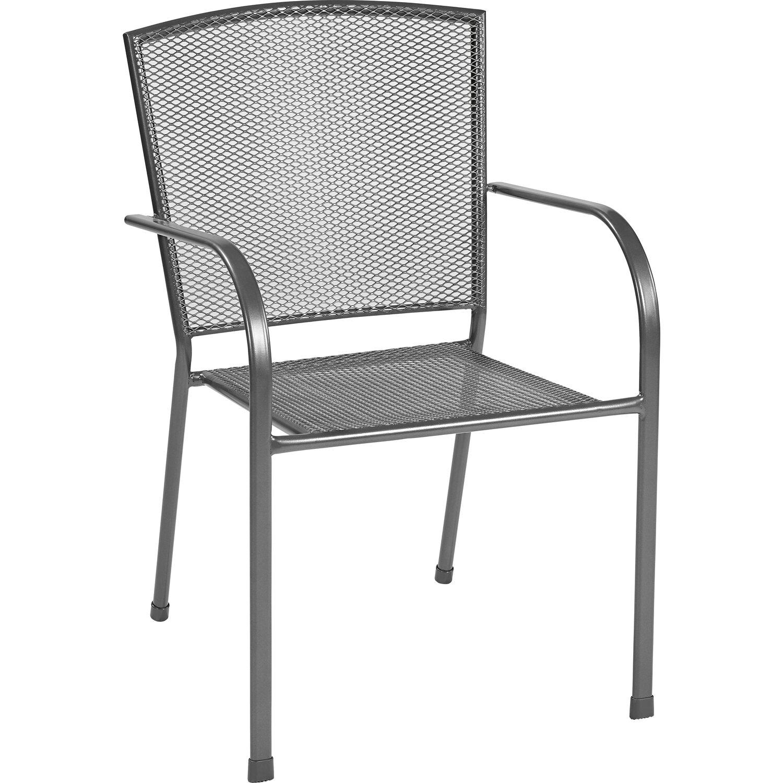 streckmetall stapelstuhl anthrazit kaufen bei obi. Black Bedroom Furniture Sets. Home Design Ideas