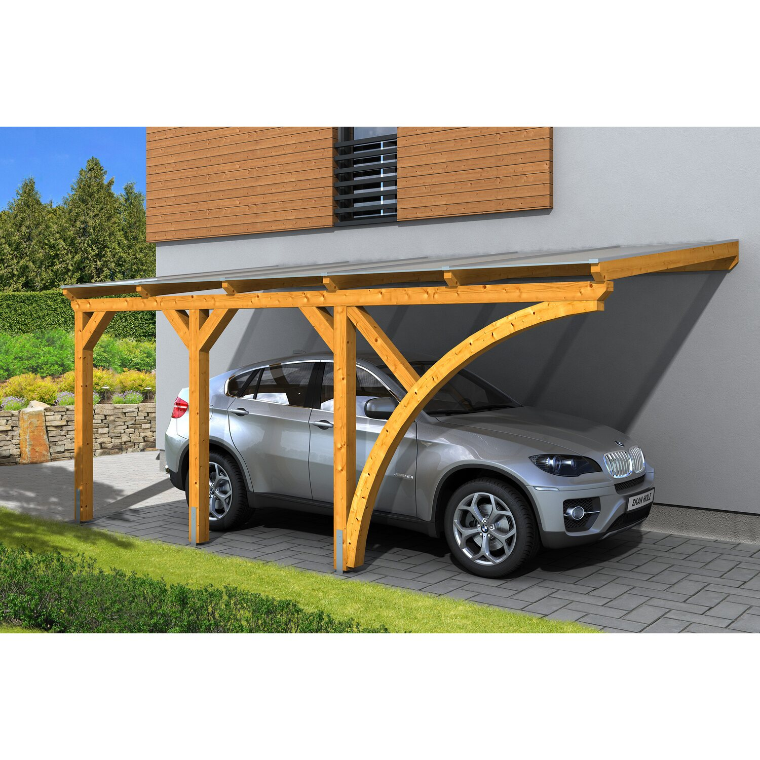 skan holz carport eifel 300 cm x 541 cm eiche hell kaufen bei obi. Black Bedroom Furniture Sets. Home Design Ideas