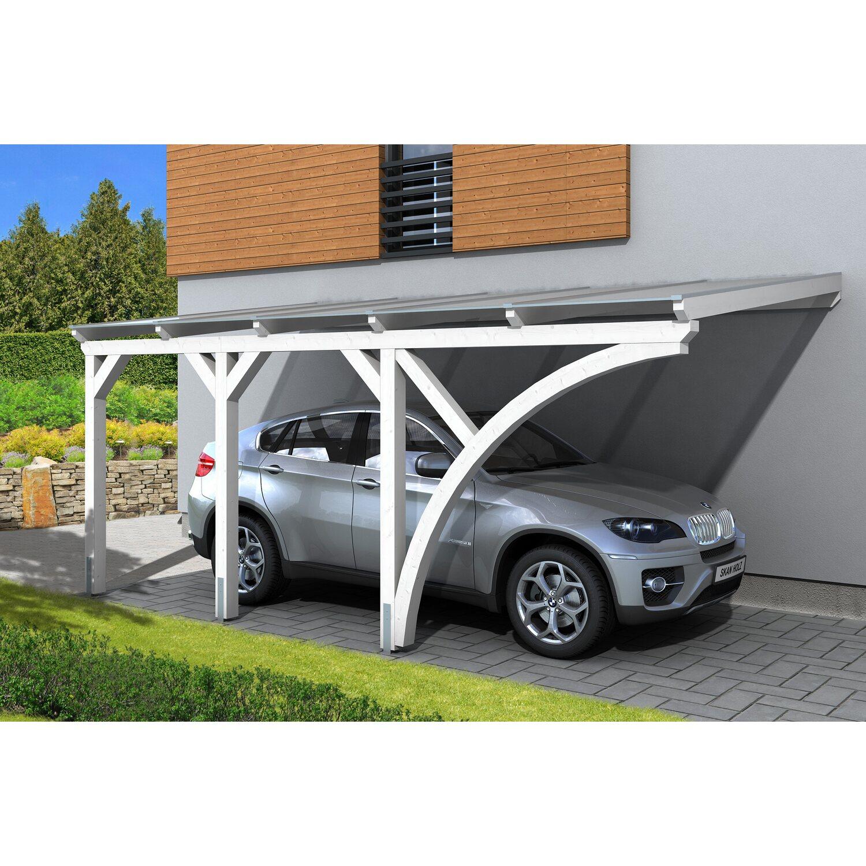 Skan Holz Carport Eifel 300 cm x 541 cm Weiß