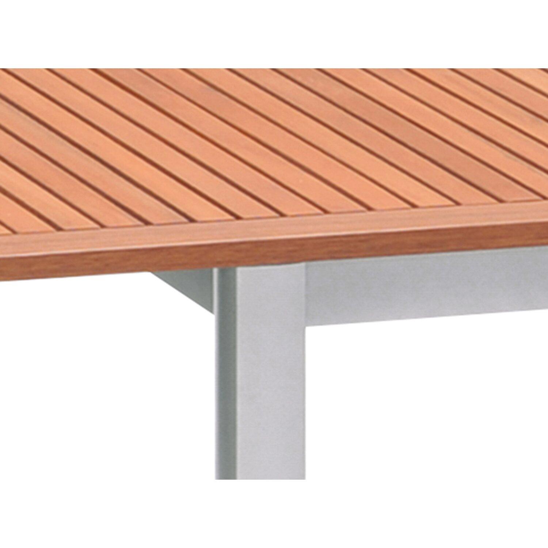 obi holz gartentisch harris rechteckig 180 cm 240 cm x 100 cm silber kaufen bei obi. Black Bedroom Furniture Sets. Home Design Ideas