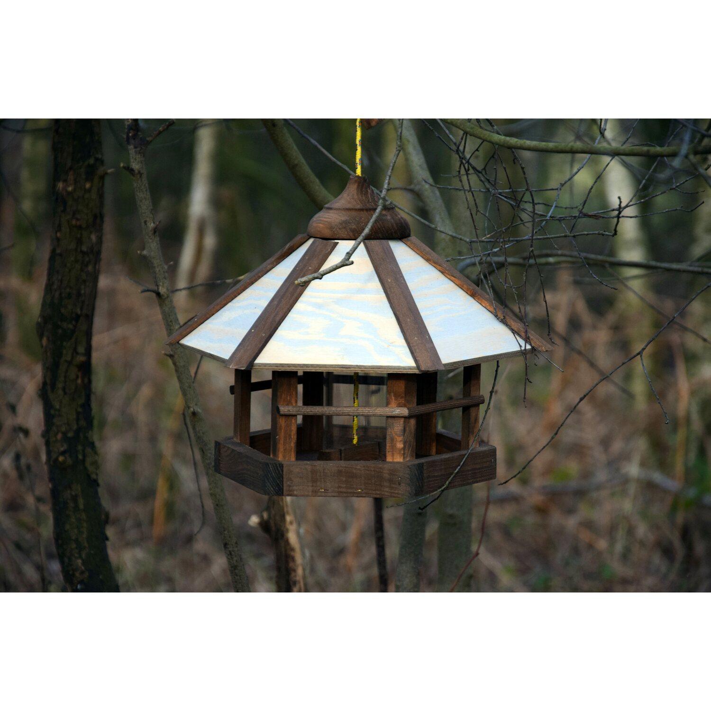 Dobar Vogelhaus Mit Futter Silo 35 X 35 X 29 Cm Sechseck Kaufen