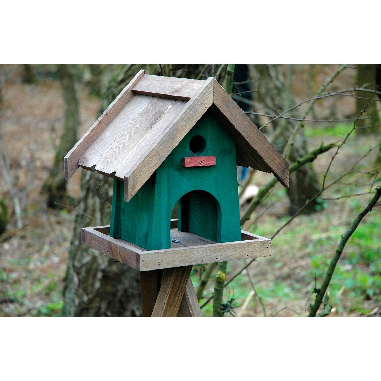 dobar 2 in 1 vogelhaus mit integriertem nistkasten 31 5 x 27 5 x 32 cm kiefer kaufen bei obi. Black Bedroom Furniture Sets. Home Design Ideas