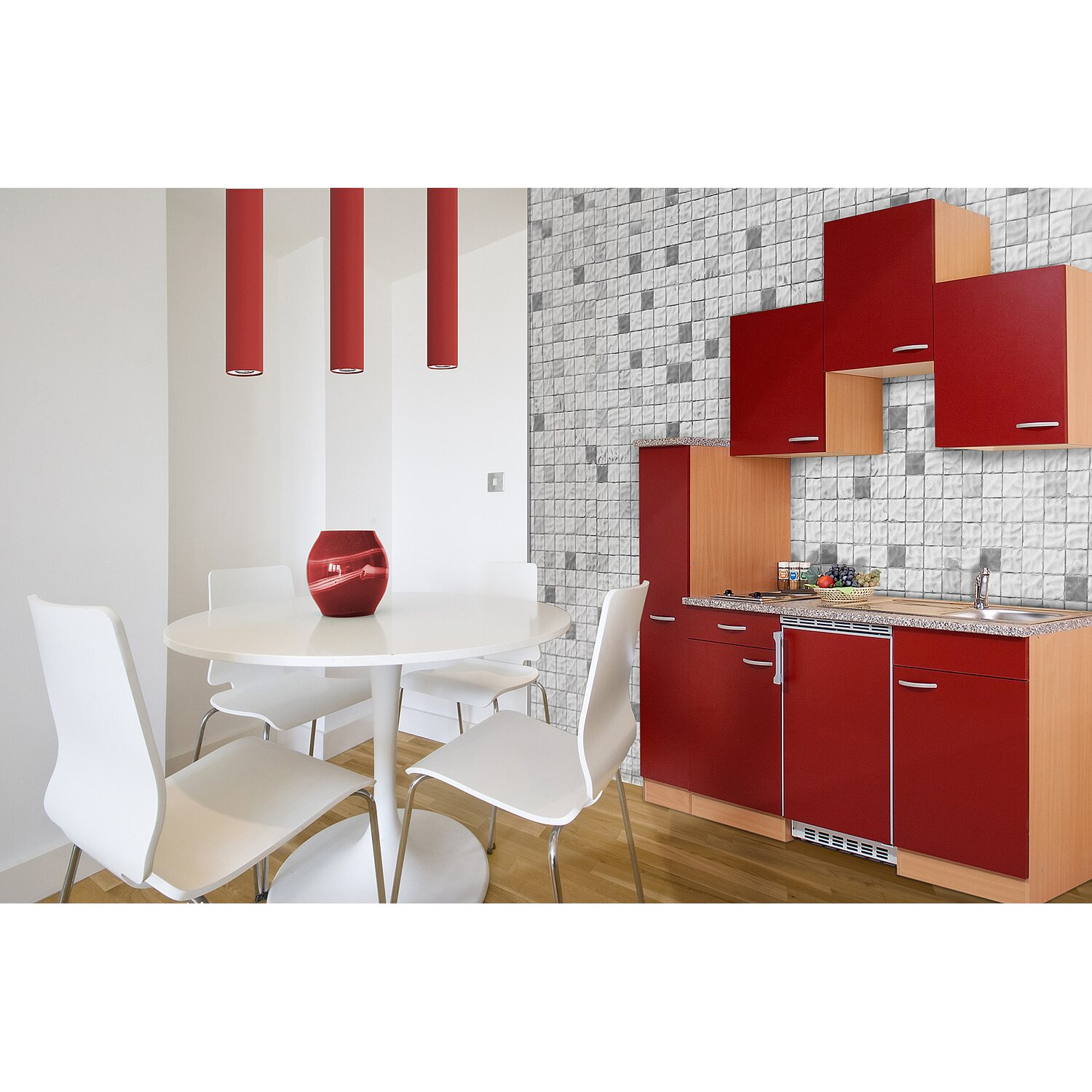 respekta k chenzeile kb180br 180 cm rot buche nachbildung kaufen bei obi. Black Bedroom Furniture Sets. Home Design Ideas