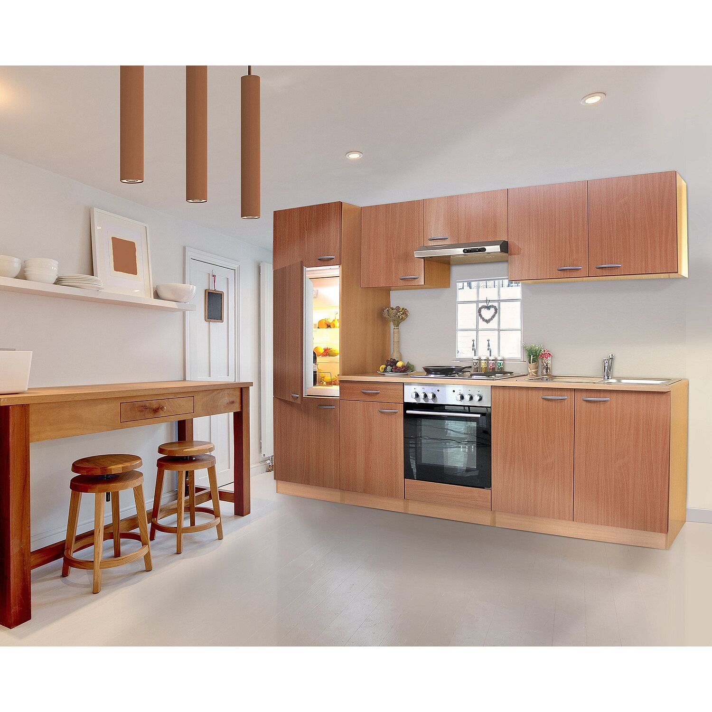 respekta k chenzeile ohne e ger te und arbeitsplatte klb270bboa 270 cm buche nb kaufen bei obi. Black Bedroom Furniture Sets. Home Design Ideas