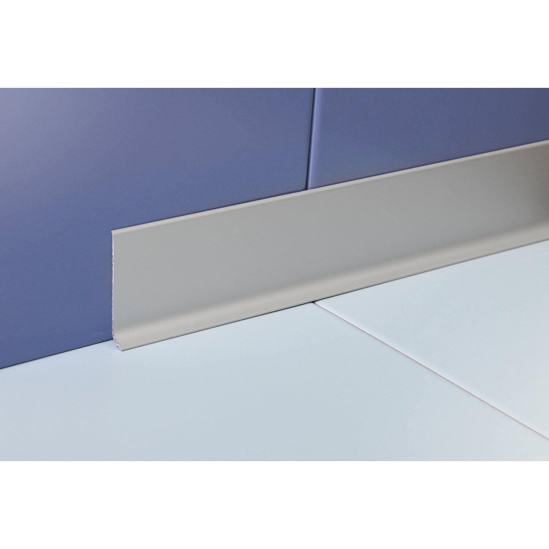 Sockelleiste Aluminium Eloxiert Silber Matt 60 Mm X 10 Mm Lange 2000