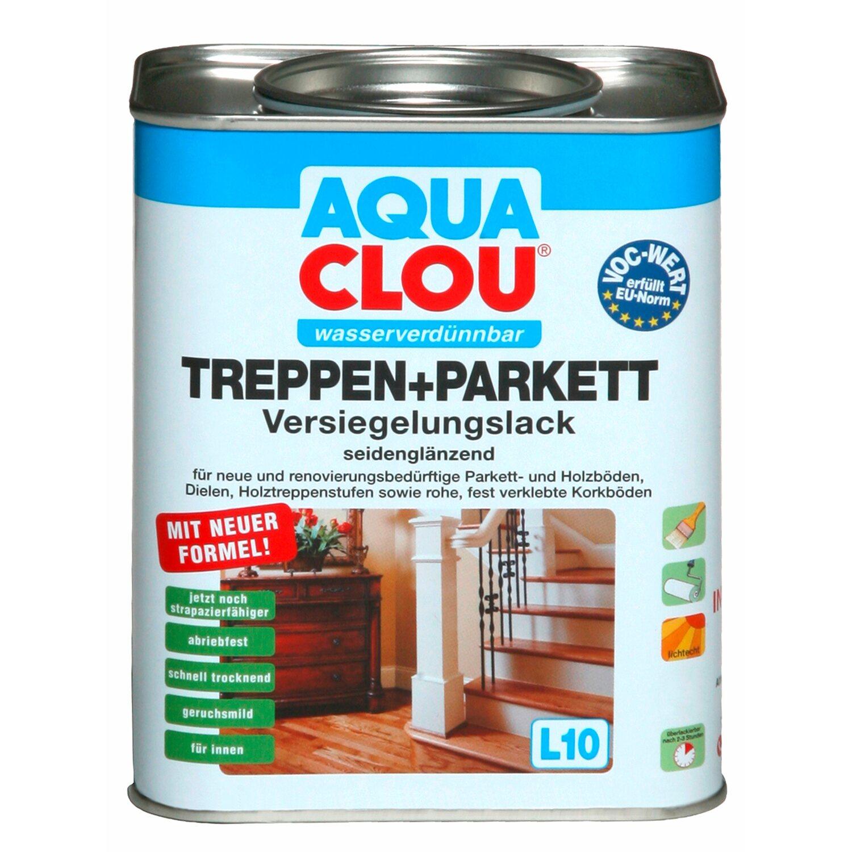CLOU Aqua Clou Treppen+Parkett Versiegelungslack seidenglänzend 2,5 l