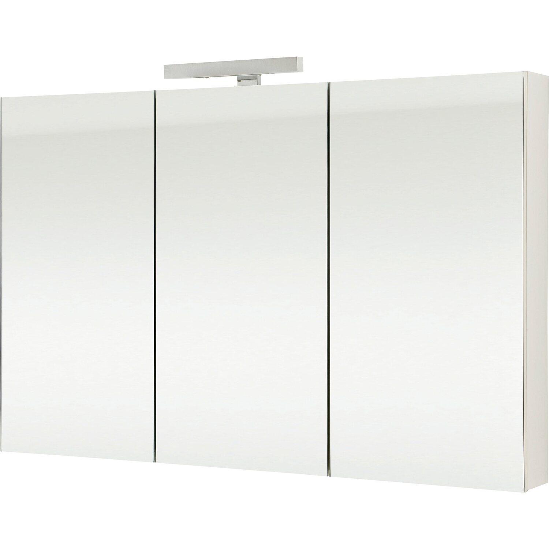 OBI Spiegelschrank Albo 120 cm Weiß EEK: C kaufen bei OBI