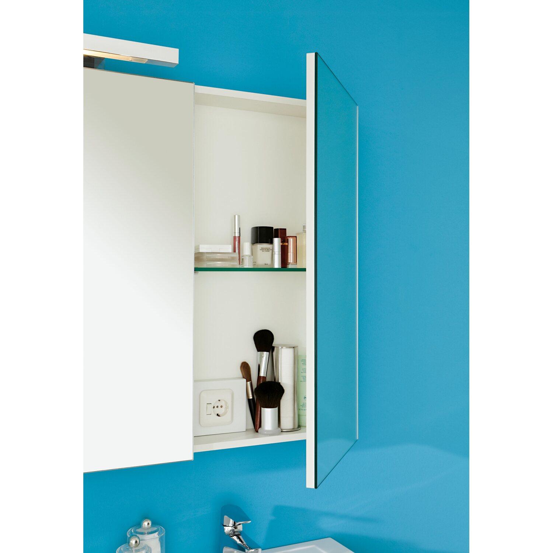 OBI Spiegelschrank Albo 120 Cm Weiß EEK: C