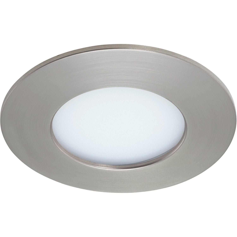 Briloner LED-Einbauleuchte Kunststoff Nickel matt H: 3 cm Ø: 8,5 cm EEK: A+