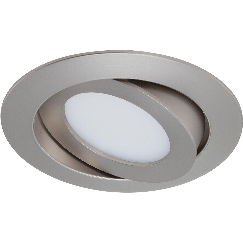Briloner LED-Einbauleuchte Nickel matt Schwenkbar H: 3cm Ø: 10,6 cm EEK: A+