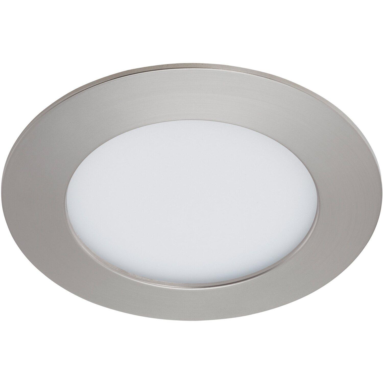Briloner LED-Einbauleuchte Nickel matt H: 2,9 cm Ø: 12 cm EEK: A+