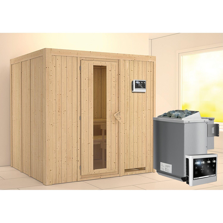 karibu sauna janna holzt r bio ofen mit ext strg bluetooth lautspr zubeh r kaufen bei obi. Black Bedroom Furniture Sets. Home Design Ideas