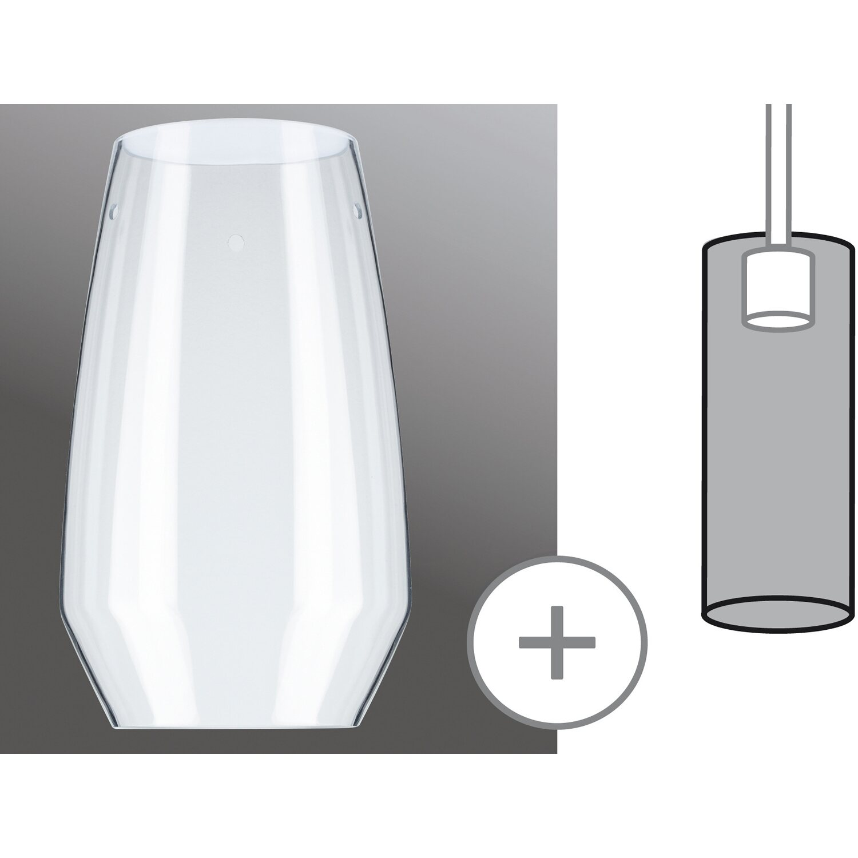 Paulmann URail Lampenschirm 2Easy Vento Glas Ø 17 cm