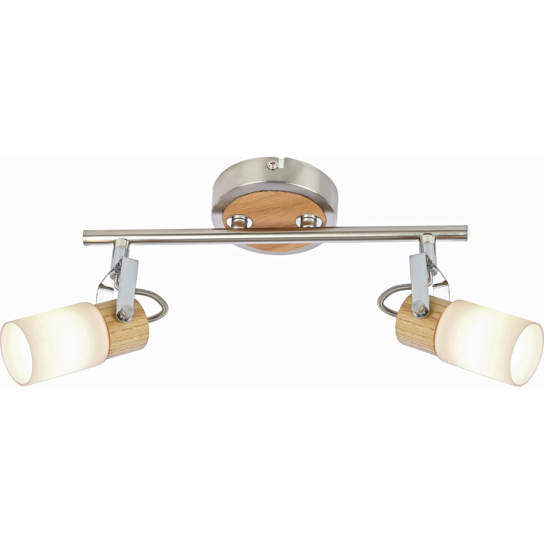 Globo LED-Spot LORI Holz Nickel matt EEK: A++