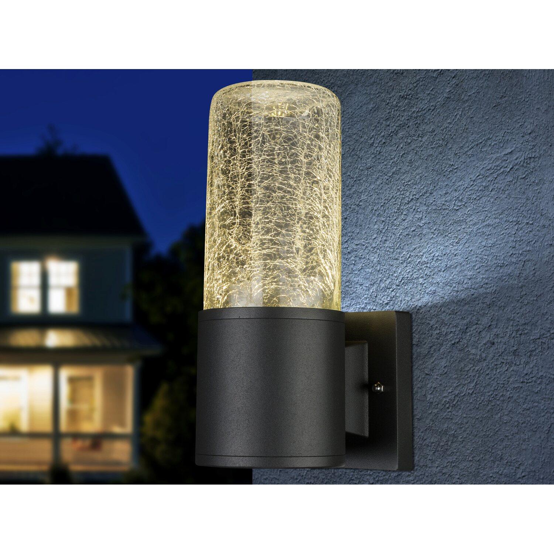 Globo LED-Außenleuchte NINA Aluminium Druckguss Anthrazit EEK: A