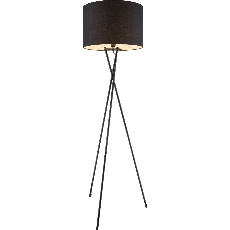 Stehlampe Schwarz Grau