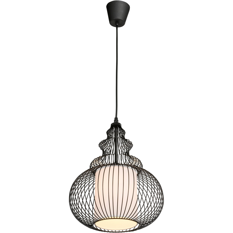globo pendelleuchte azoria metall schwarz eek e a kaufen bei obi. Black Bedroom Furniture Sets. Home Design Ideas