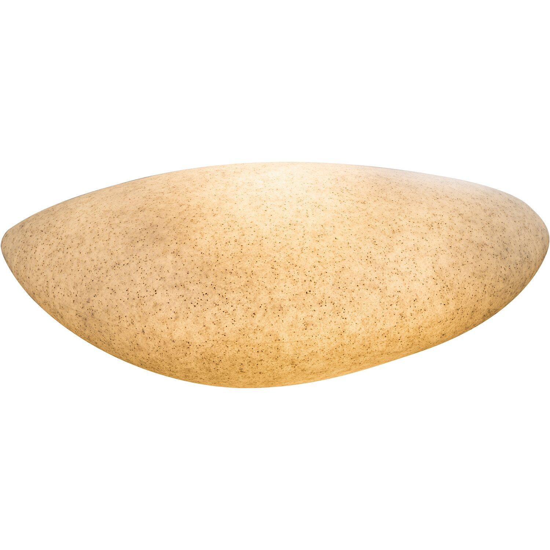 globo au en kugelleuchte mit erdspie toula kunststoff grau eek e a kaufen bei obi. Black Bedroom Furniture Sets. Home Design Ideas