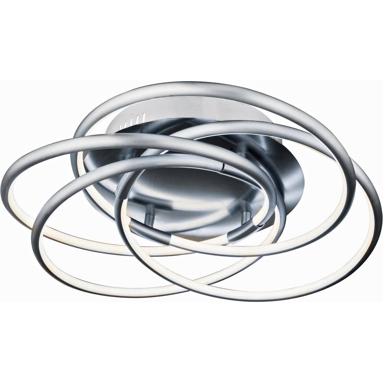 globo led deckenleuchte barna aluminium silber metallic eek a kaufen bei obi. Black Bedroom Furniture Sets. Home Design Ideas