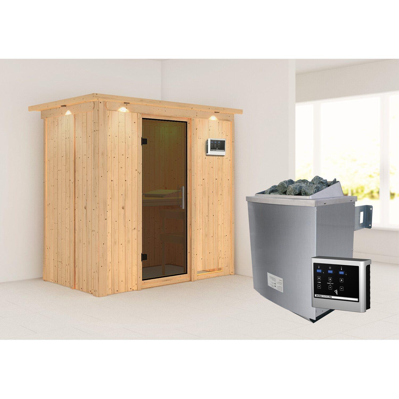 karibu sauna variado mit ganzglast r ofen und steuerung graphit fronteinstieg kaufen bei obi. Black Bedroom Furniture Sets. Home Design Ideas