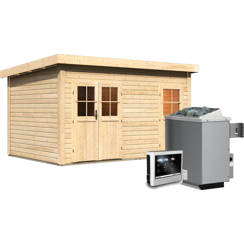 karibu sauna nukka mit 9 kw ofen und eingebauter steuerung kaufen bei obi. Black Bedroom Furniture Sets. Home Design Ideas
