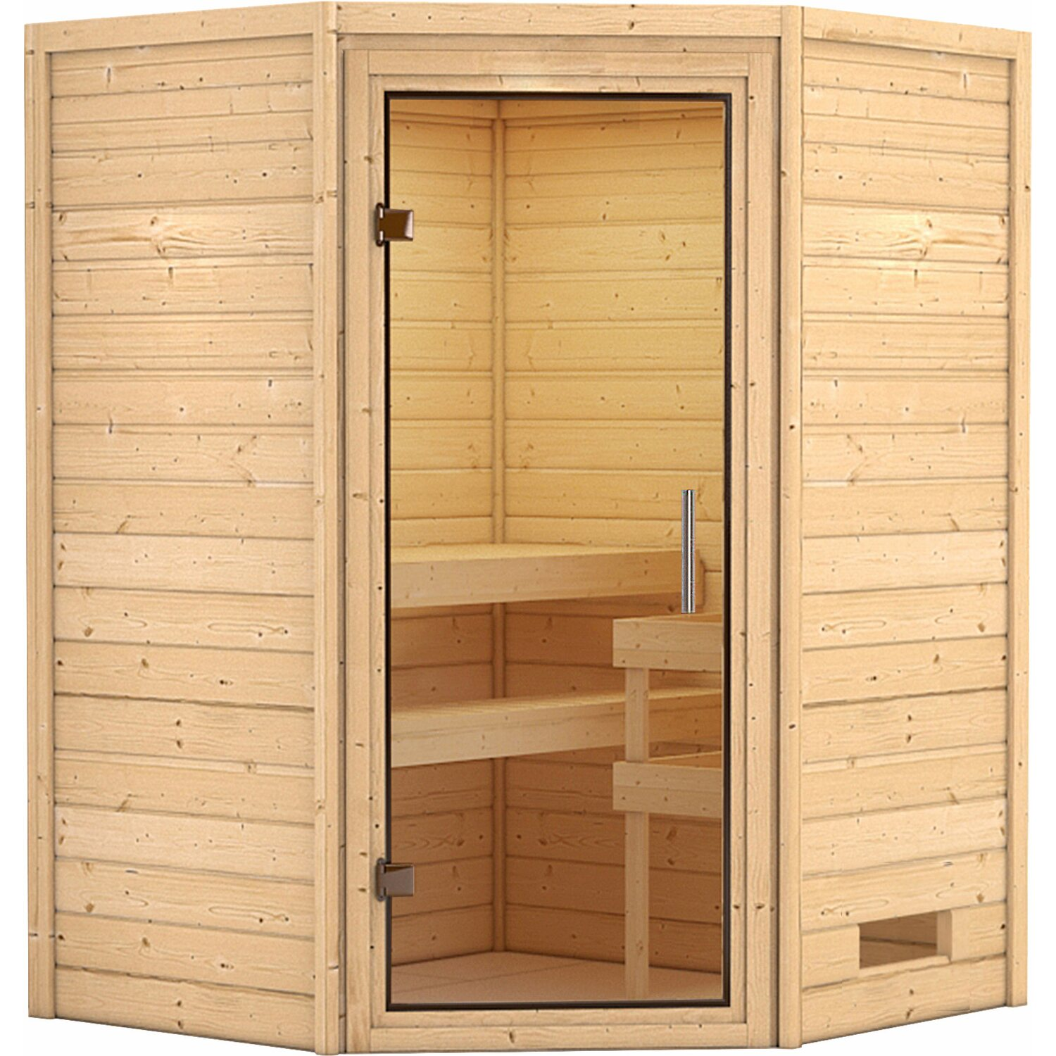 karibu sauna franka mit klar ganzglast r eckeinstieg ohne kranz kaufen bei obi. Black Bedroom Furniture Sets. Home Design Ideas
