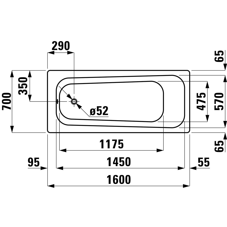 Favorit Sanicomfort Stahl-Badewanne 160 cm x 70 cm Weiß kaufen bei OBI MM54