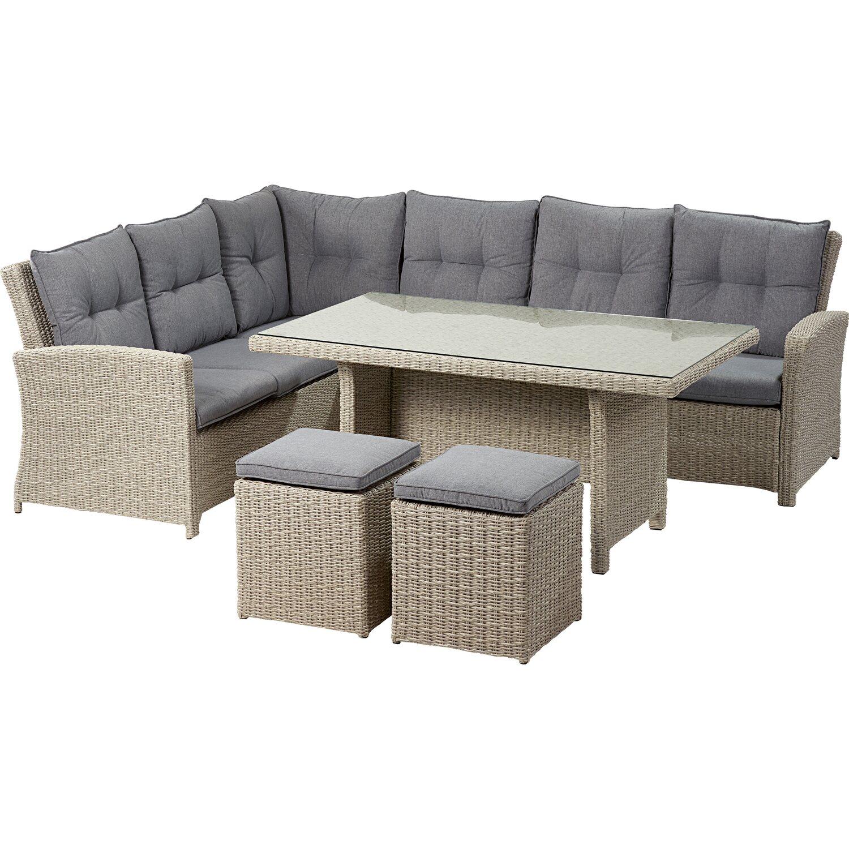 obi esstisch lounge gruppe vermont ecke links cloud fossil 5 tlg kaufen bei obi. Black Bedroom Furniture Sets. Home Design Ideas
