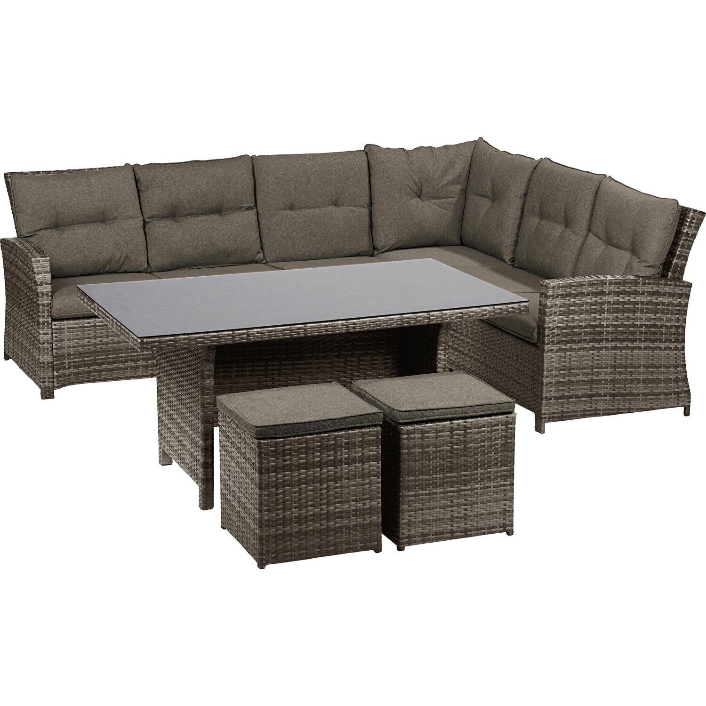 obi esstisch lounge gruppe vermont ecke rechts shadow earth 5 tlg kaufen bei obi. Black Bedroom Furniture Sets. Home Design Ideas