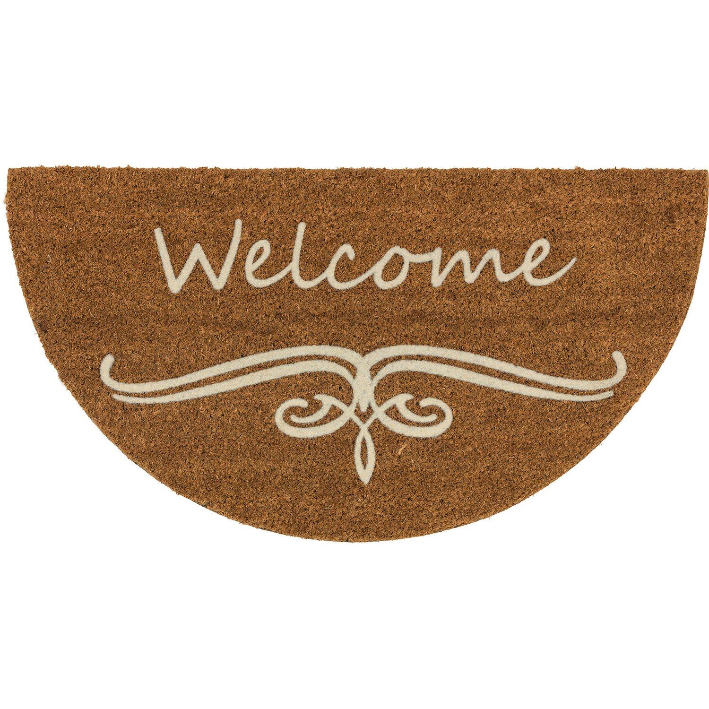 astra fu matte coco design halbrund 40 cm x 75 cm ranke welcome kaufen bei obi. Black Bedroom Furniture Sets. Home Design Ideas