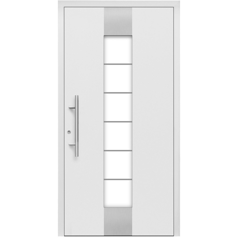 Aluminium Haustür Moderno M310b 110 X 210 Cm Weiß Anschlag Links