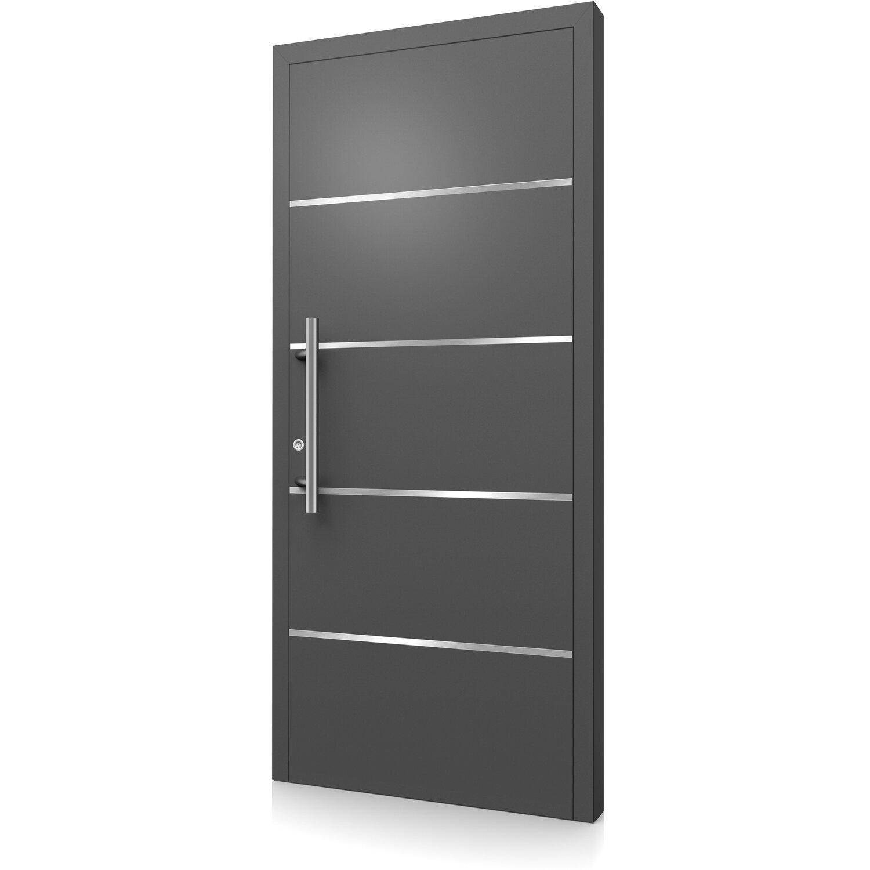 aluminium haust r modell moderno m460 b 110 x 210 cm anthrazit metallic links kaufen bei obi. Black Bedroom Furniture Sets. Home Design Ideas