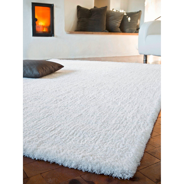 Hochflor Teppich Weiß : hochflor teppich san remo wei 140 cm x 200 cm kaufen bei obi ~ Watch28wear.com Haus und Dekorationen