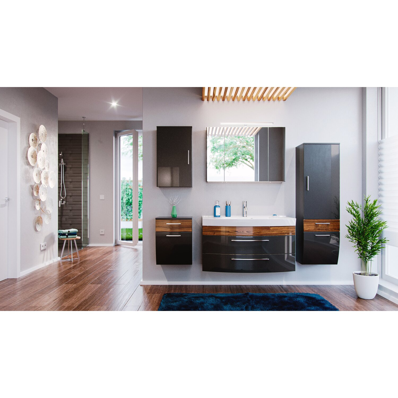 posseik badm bel set rima anthrazit walnuss 5 teilig eek. Black Bedroom Furniture Sets. Home Design Ideas