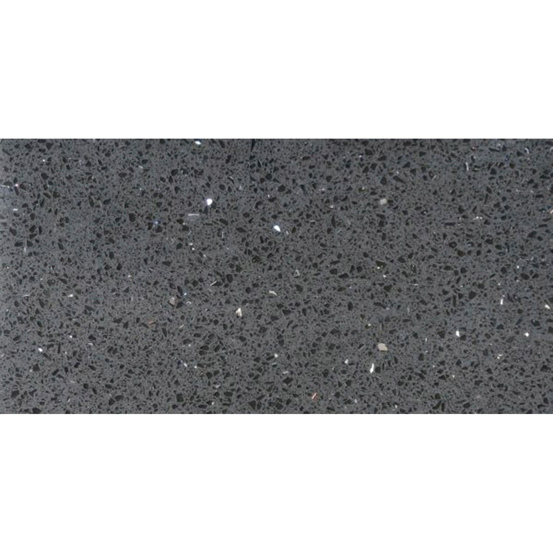 Sonstige Bodenfliese Quarzkomposit Schwarz 30 cm x 60 cm