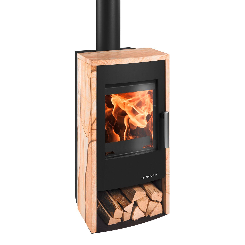 haas sohn kaminofen rubus easy schwarz mit woodstone verkleidung 6 kw eek a kaufen bei obi. Black Bedroom Furniture Sets. Home Design Ideas