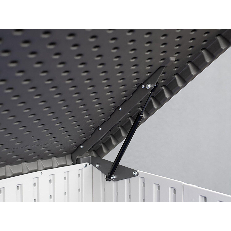 Lifetime Xxl Kunststoff Mulltonnenbox Fur 3 Tonnen Anthrazit Grau