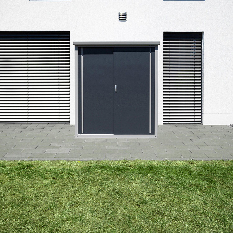 trimetals gartenschrank guardian d63 inkl boden b x t 172 cm x 90 cm kaufen bei obi. Black Bedroom Furniture Sets. Home Design Ideas