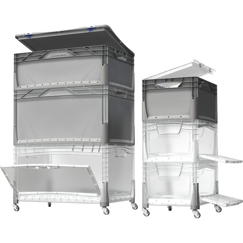 Obi Eurobox System Tauro Box Flap Side 60 X 40 X 32 Cm Transparent