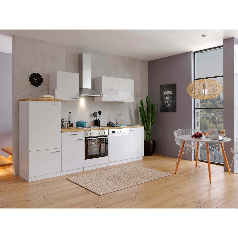 Respekta Küchenzeile ohne E-Geräte LBKB280WW 280 cm Weiß kaufen bei OBI